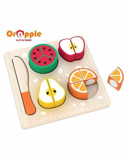 Orapple By R For Rabbit Wooden Fruit Slicer - Multicolor