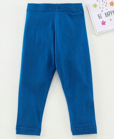 Babyhug Ankle Length Solid Leggings - Navy
