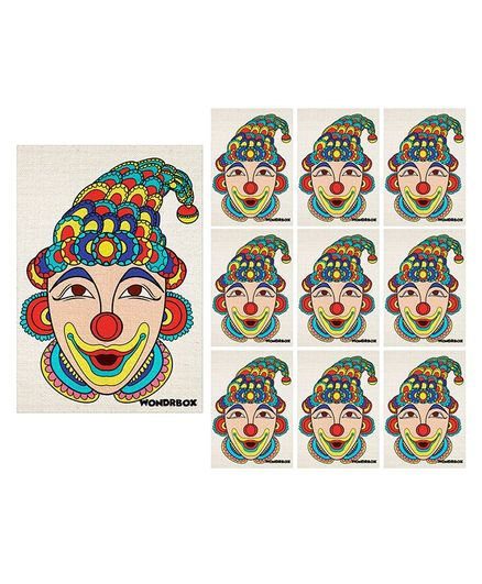 Wondrbox Indian Fork Art Coloring Kit Pack of 10 - Multicolour