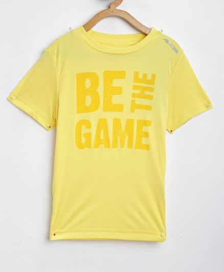 Alcis Half Sleeves Be The Game Printed T-Shirt - Yellow