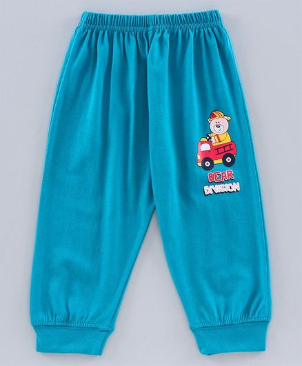 Tango Full Length Lounge Pant Bear Print - Blue
