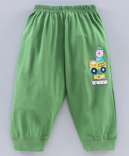 Tango Full Length Lounge Pant Bear Print - Green