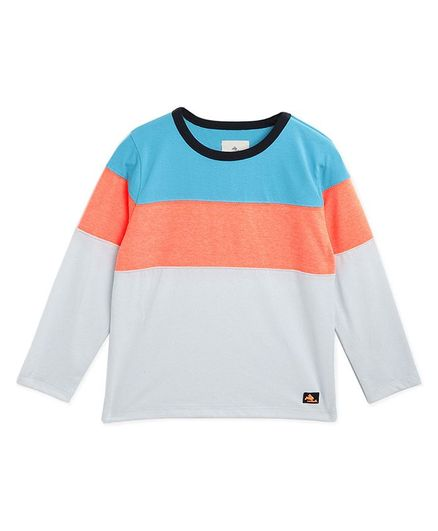 Cherry Crumble By Nitt Hyman Full Sleeves Colour Block Patter Tee - Multi Colour