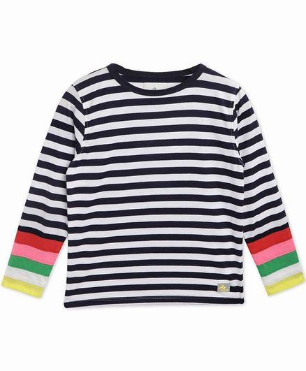 Cherry Crumble By Nitt Hyman Full Sleeves Striped T-Shirt - Blue