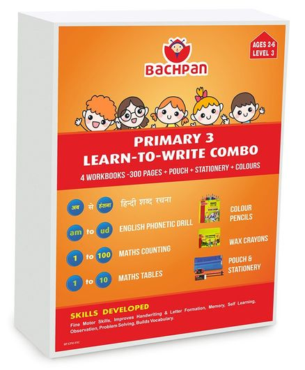 Bachpan Primary 3 Learn To Write Combo Workbooks Set of 4  - English