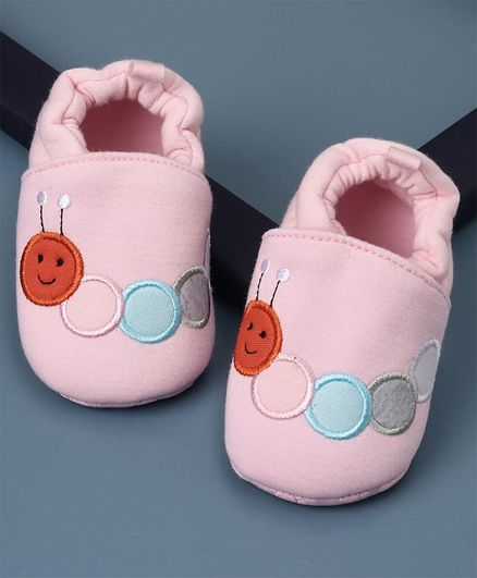 KIDLINGSS Caterpillar Patch  Booties - Pink