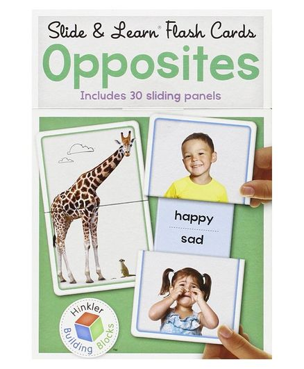 Wilco International Slid & Learn Opposites Flash Card Pack of 15 - Multicolor