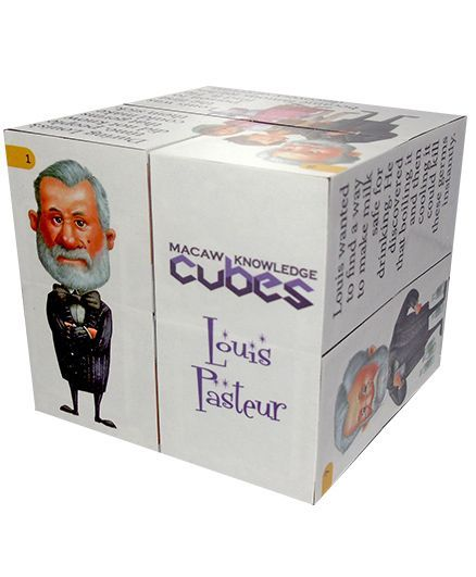 Macaw Scientist Cube - Louis Pasteur