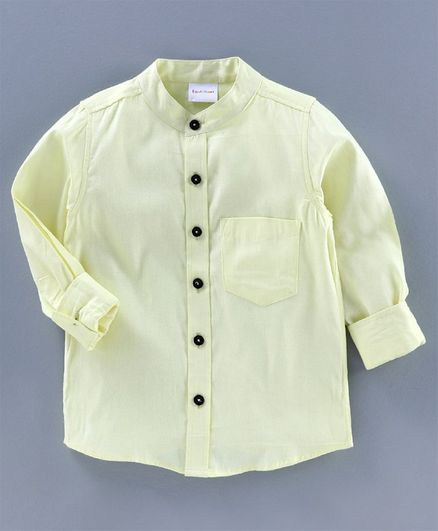 BAATCHEET Solid  Full Sleeves Shirt - Lemon