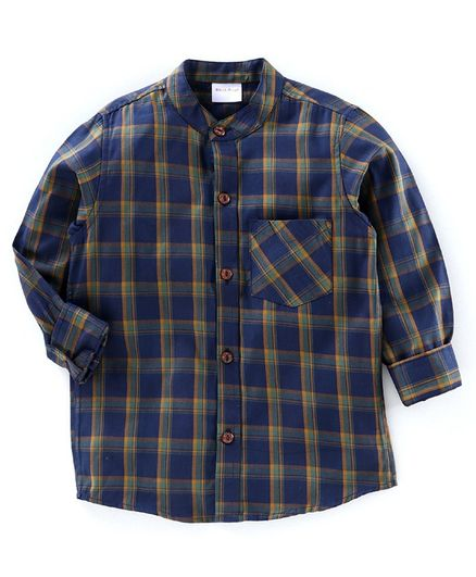 BAATCHEET Full Sleeves Checked Shirt - Blue