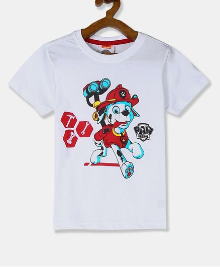 Colt Short Sleeves Paw Patrol Marshall Print T-Shirt - White