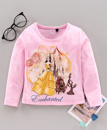Hoppipola Full Sleeves Princess Print Tee - Pink