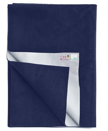 Beebaby UltraDry Baby Bed Protector Medium - Dark Blue