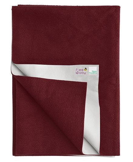 Beebaby Ultra Dry Baby Bed Protector - Maroon