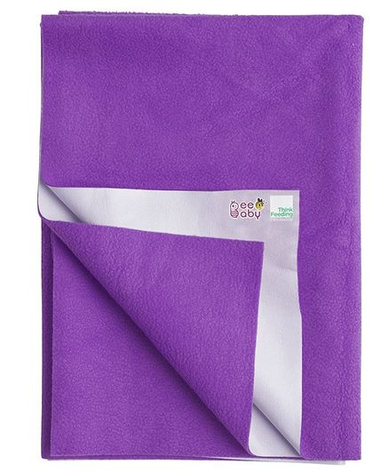 Beebaby Ultra Dry Baby Bed Protector Sheet - Violet