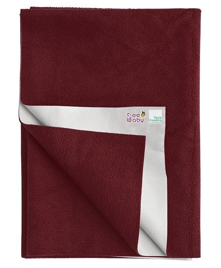 Beebaby UltraDry Baby Bed Protector Large - Maroon