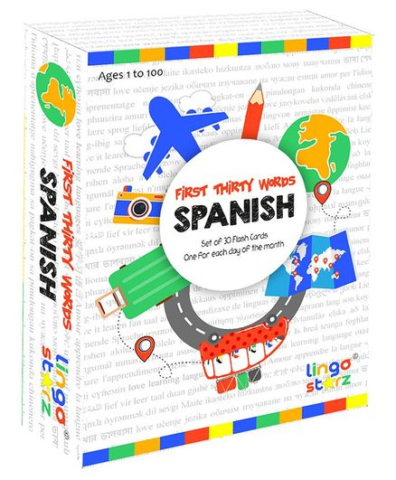 Lingo Starz First Thirty Words Flashcards - Spanish