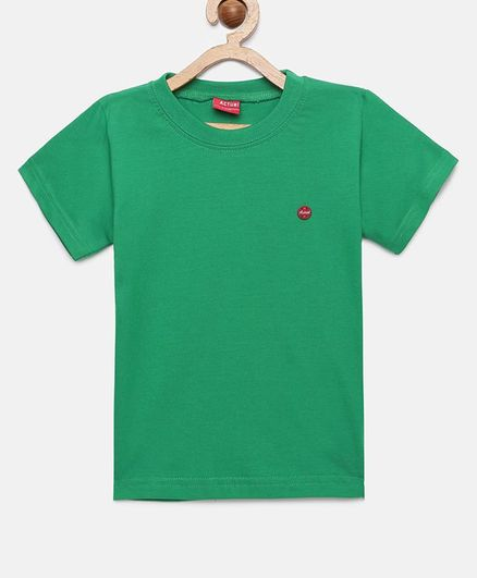 Actuel Solid Half Sleeves Tee - Green