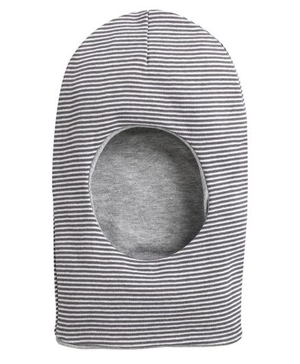 BUMZEE Striped Monkey Cap - Grey