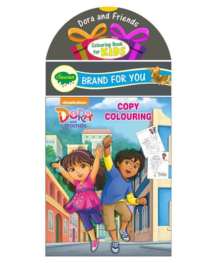 Sawan Dora and Friends Copy Colouring Book - English