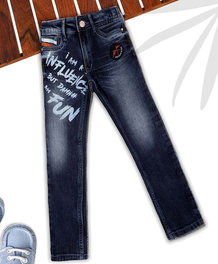 Sodacan Full Length Printed Jeans - Blue