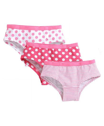 Charm n Cherish Pack Of 3 Polka Dotted Panties - Pink