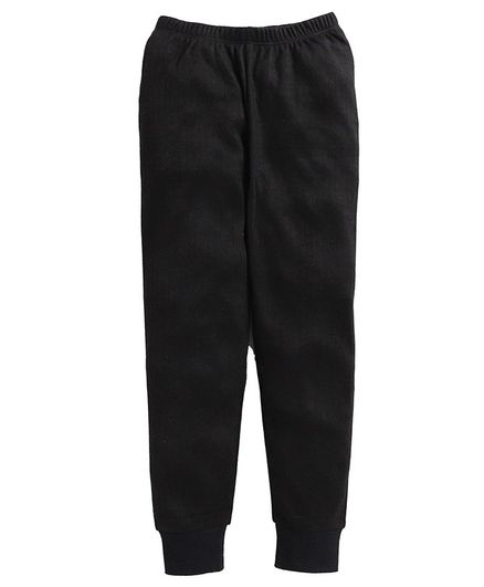 Charm n Cherish Full Length Thermal Pants - Black