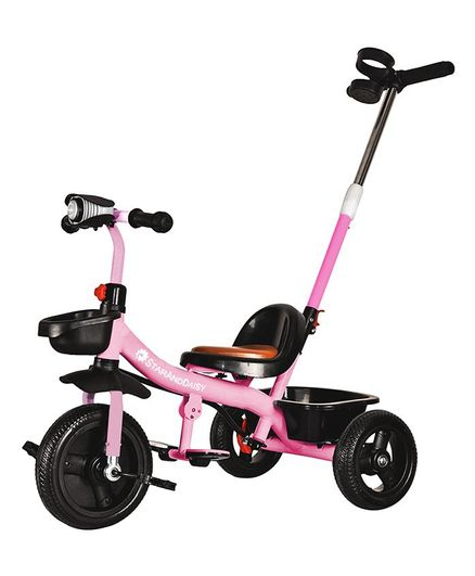 StarAndDaisy Luxury Tricycle with Push Handle - Pink