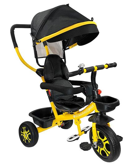 StarAndDaisy Classy Tricycle with Canopy - Yellow
