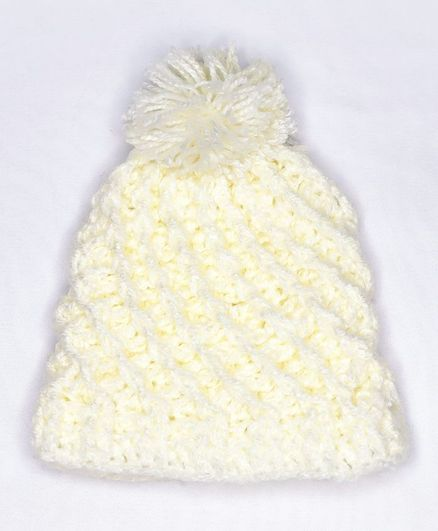 Knits & Knots Solid Color Snow Cap - Circumference 34cm - Cream