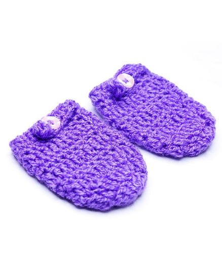 Knits & Knots Solid Colour Mittens - Purple