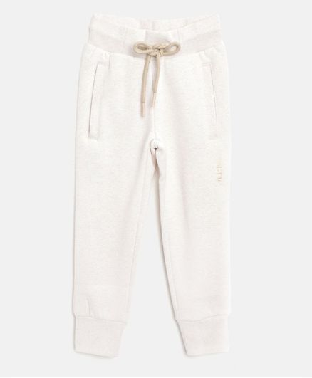 Alcis Full Length Solid Track Pants - Cream