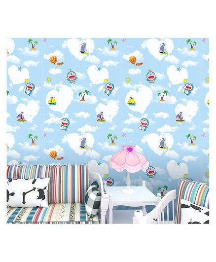 Oren Empower Doraemon Cartoon Themed Wallpaper - Blue
