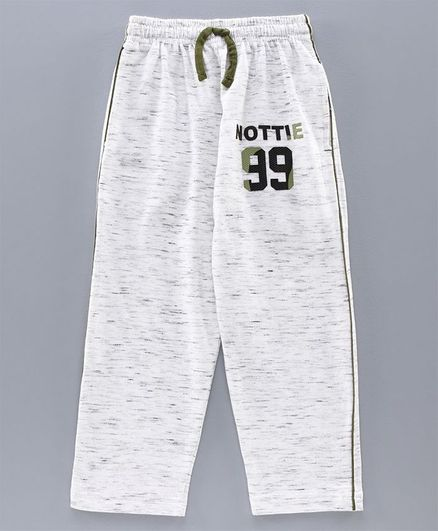Nottie Planet 99 Patch Full Length Lounge Pants - Off White & Green
