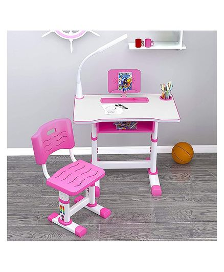 StarAndDaisy Multifunctional Study Table And Chair - Pink
