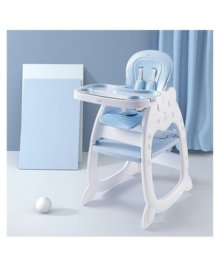 StarAndDaisy High Chair with Adjustable Plate - Blue