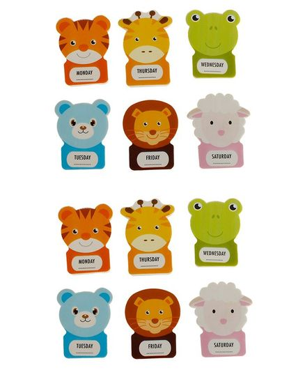 Passion Petals Animal Shaped Erasers Pack of 12 - Multicolor