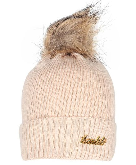 Tiekart Fur Cluster Design Warm Baby Cap - Cream