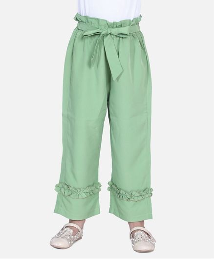Cutiekins Solid Colour Full Length Palazzo - Light Green
