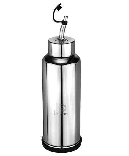 Falcon Oil Dispenser With Spout Silver - 1000 ml