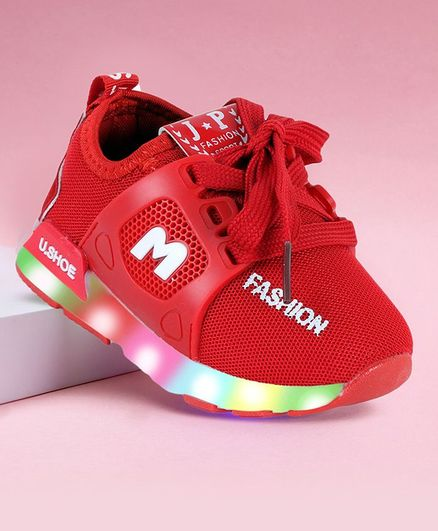 PASSION PETALS Fashion Printed LED Shoes - Red
