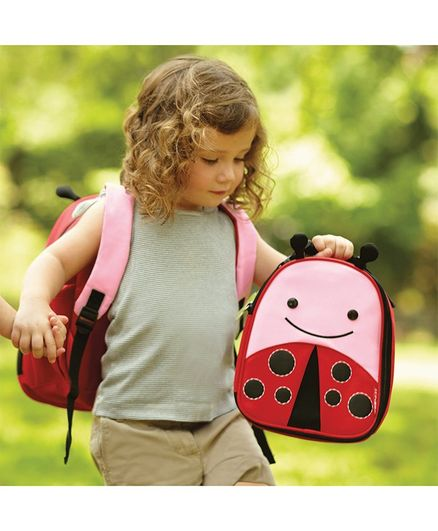 Skip Hop Zoo Lunchie Insulated Kids Lunch Bag Ladybug - Red Pink