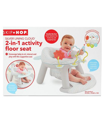 Skip Hop Silver Lining Cloud 2 in 1 Activity Floor Seat - White