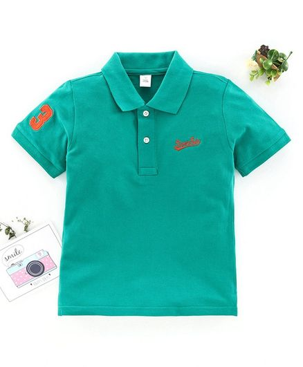 ToffyHouse Half Sleeves Polo T-Shirt - Green