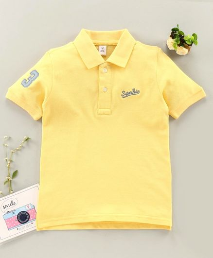 ToffyHouse Half Sleeves Polo T-Shirt - Light Yellow
