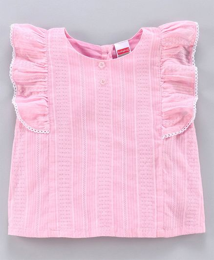Babyhug Half Sleeves Solid Top - Pink