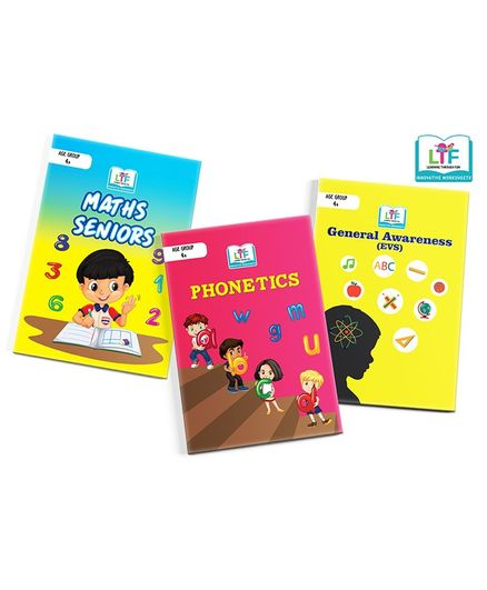 Learning Through Fun Math English & EVS Activity Book Pack of 3 - English