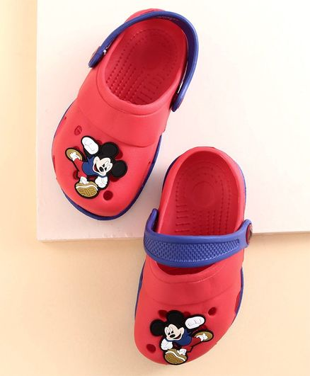 Disney Clogs Mickey Mouse Print - Red