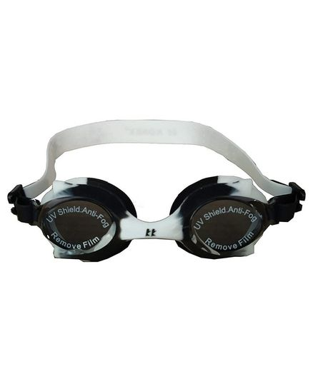 Tahanis Anti Fog UV Protected Silicone Swimming Goggles - Black