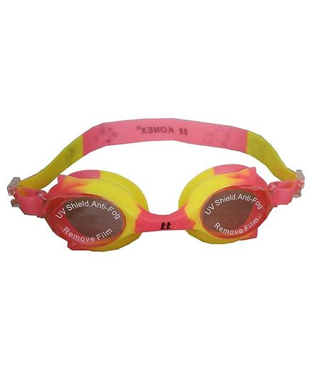 Tahanis Anti Fog UV Protected Silicone Swimming Goggles - Pink